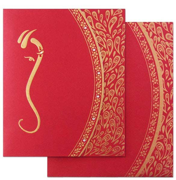 Amazingly Beautiful This Contemporary Hindu Wedding Invitation Card Will Set The Right Tone