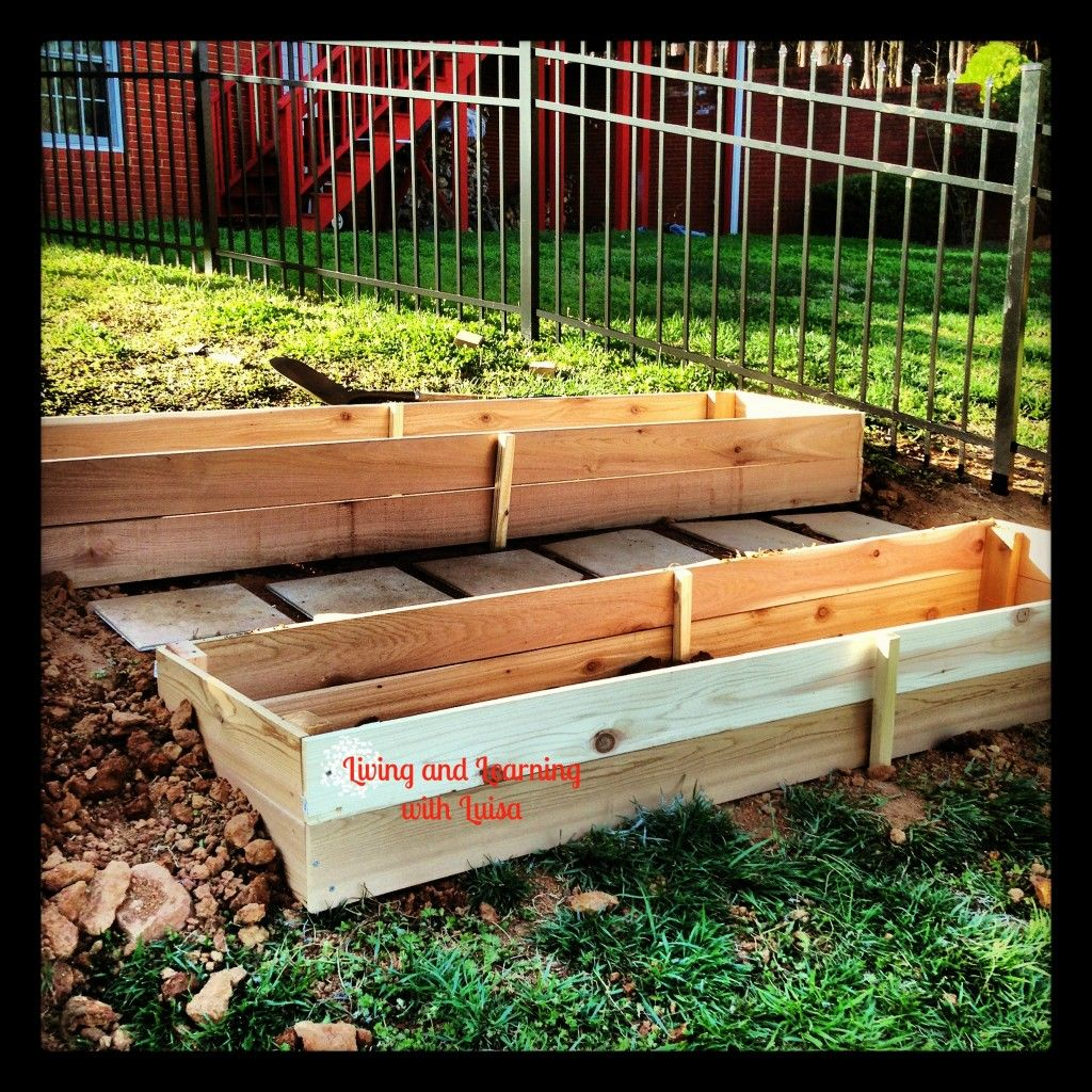 Building a garden bed on a slope that diy party for Building a raised garden