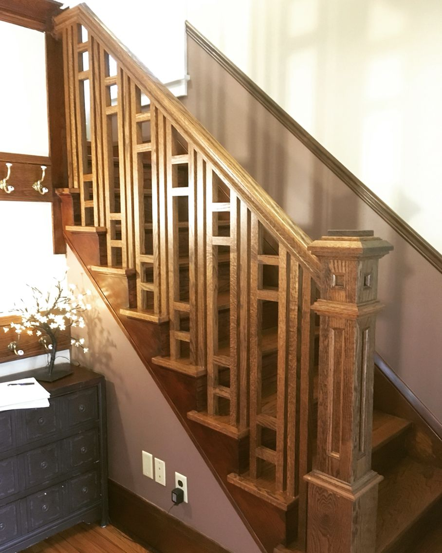 Best Craftsman Style Red Oak Railing Woodworking Projects 400 x 300