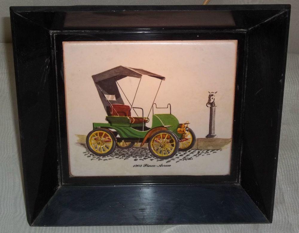 Vintage 1903 Pierce-Arrow Stanhope Car Night Light Working Works Wall Lamp RARE