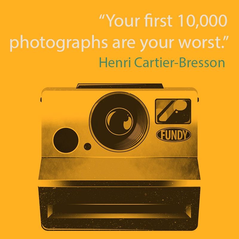 quote is from Henri Cartier-Bresson camera art is ©Fundy Software - software quote