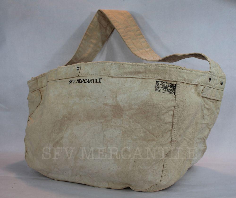Sfv Mercantile Newspaper Boy Riveted Natural Canvas Bag In Vintage Wash Canvas Bag Vintage Tote Bag Bags