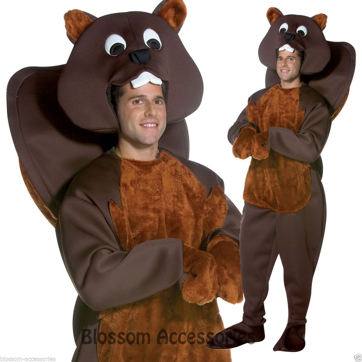 Details about C910 Nice Beaver Mascot Animal Halloween Adult Fancy ...