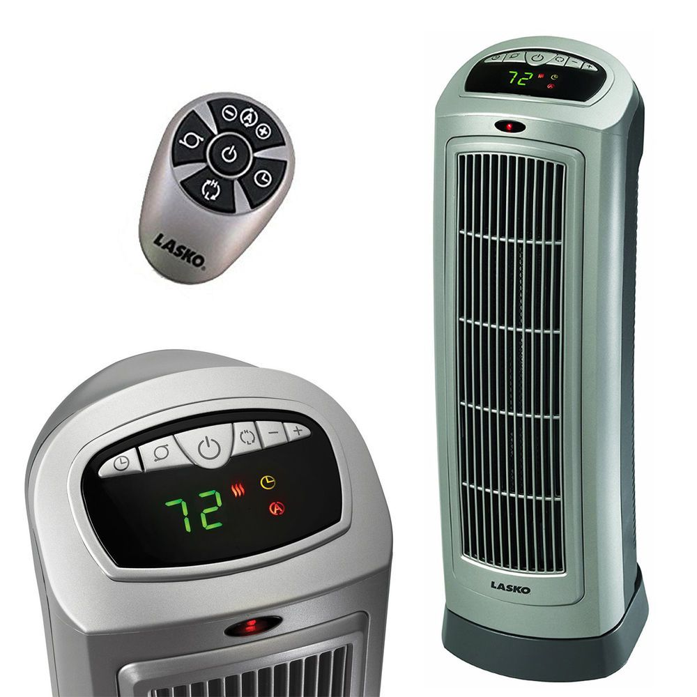 Portable Ceramic Heater Programmable Thermostat Remote Control Digital Display Massmarket Ceramics Tower Heater Ebay