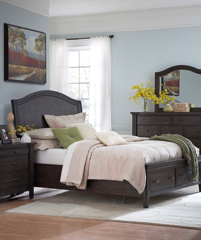 Attic Heirlooms Retreat King Sleigh Storage Bed Broyhill Furniture Furniture Storage Bed