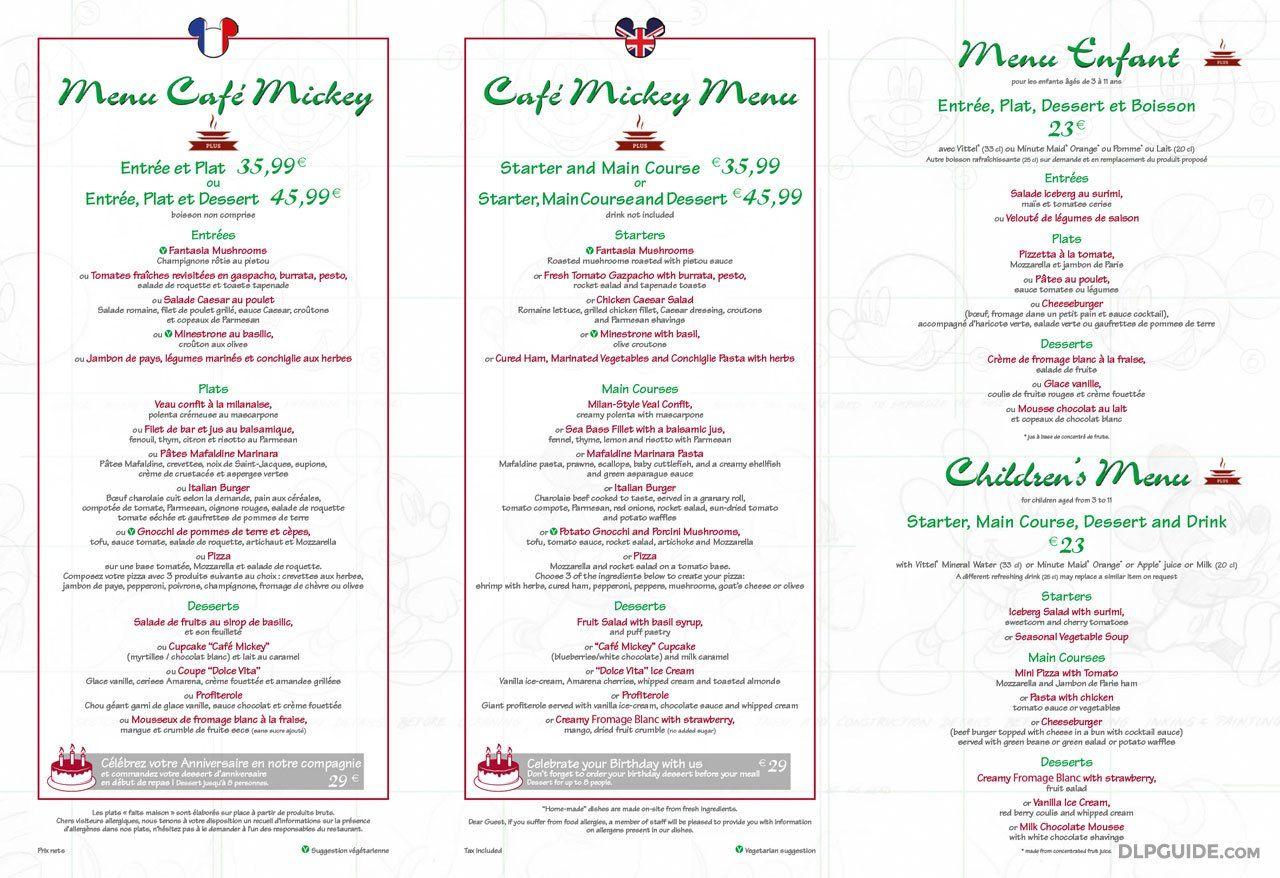 61ab35febc6b5f4ed5d5504cf9f99cd0 - Plaza Gardens Restaurant Disneyland Paris Menu