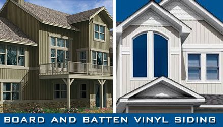 Board And Batten Vinyl Siding Is Made Of 8 Inch Siding Planks Installed Vertically At The Wall Of Your House Vinyl Siding House Exterior House Styles