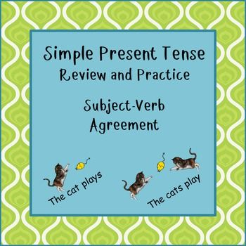 Simple Present Tense Subject Verb Agreement Subject Verb