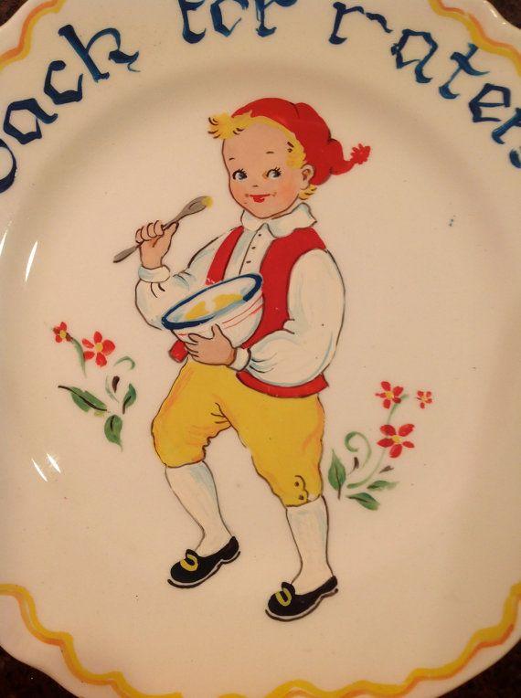 Vintage Scandinavian hand painted plate of a by Lulubellebazaar, $8.75