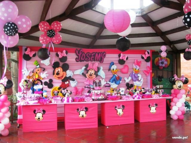 Decoraci n fiesta minnie buscar con google party theme for Decoracion minnie mouse