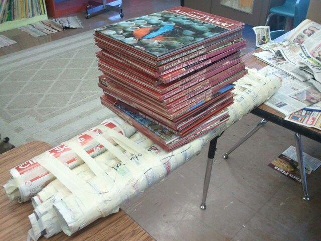 Newspaper And Tape Bridge Building Lesson Idea