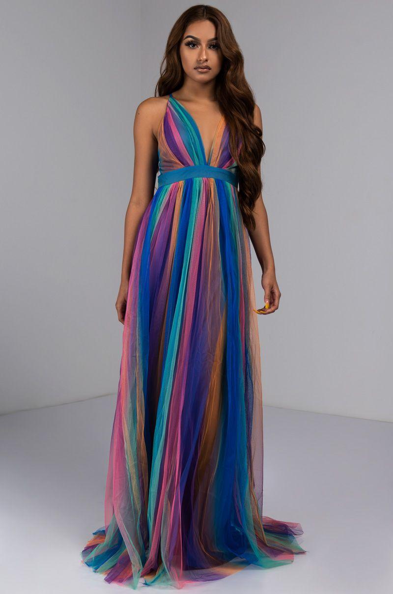 Sheer Rainbow Tulle Pleated Maxi Dress Dresses Maxi Dress Pleated Maxi Dress [ 1209 x 800 Pixel ]