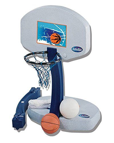 Ed Dunnrite Products Pool Sport 2 In 1 Swimming Basketball Hoop And Volleyball Combo Set