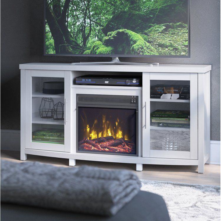slim fireplace tv stand on Zipcode Design Southington Tv Stand For Tvs Up To 60 With Electric Fireplace Included Fireplace Tv Stand Tv Stand Diy Home Decor Projects