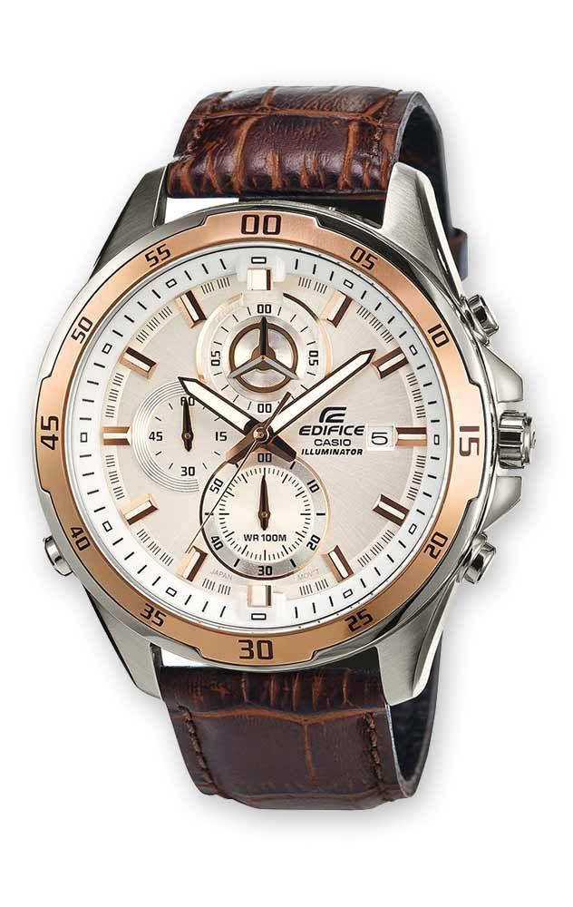 Reloj Casio Edifice Hombre Efr 547l 7avuef Cronografo Reloj Casio Relojes De Cuero Para Hombres Casio Edifice