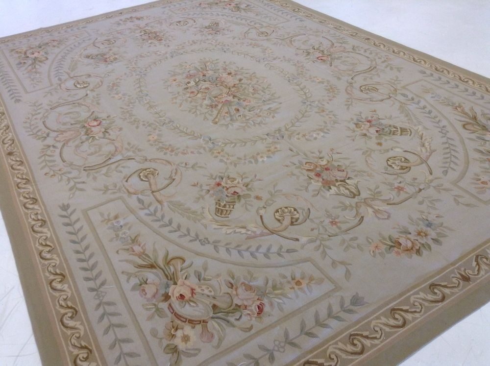 10 X 14 French Aubusson Multicolored Hand Knotted Oriental Rug Wool Handmade 683726288527 Ebay Rugs Oriental Rug Oriental