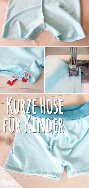 Kurze Hose nähen fürs Kind – Schnittmuster für Sommerhose – Talu.de