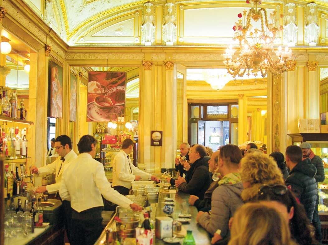 Gran Caffe Gambrinus is the most famous coffee shop in Naples.