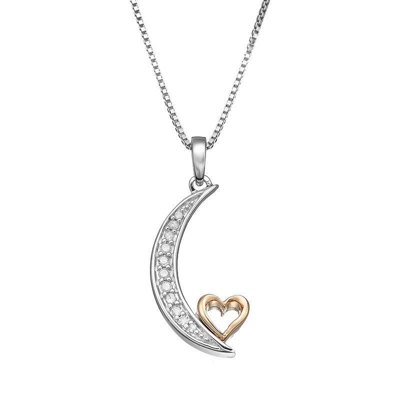3958d6ee84272 Love Is Forever Diamond Accent Sterling Silver & 14k Gold Over ...
