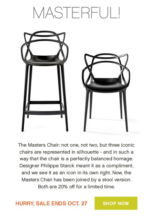 kartell sale featuring the masters chair design on demand chair
