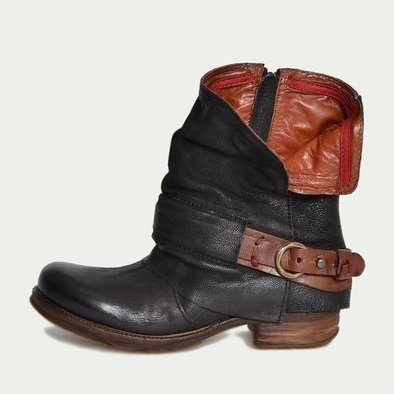 d7c8f5c741f46 Description Product Name Low heel ankle boots belt buckle side zipper women's  shoes Brand Name Tailorhacks