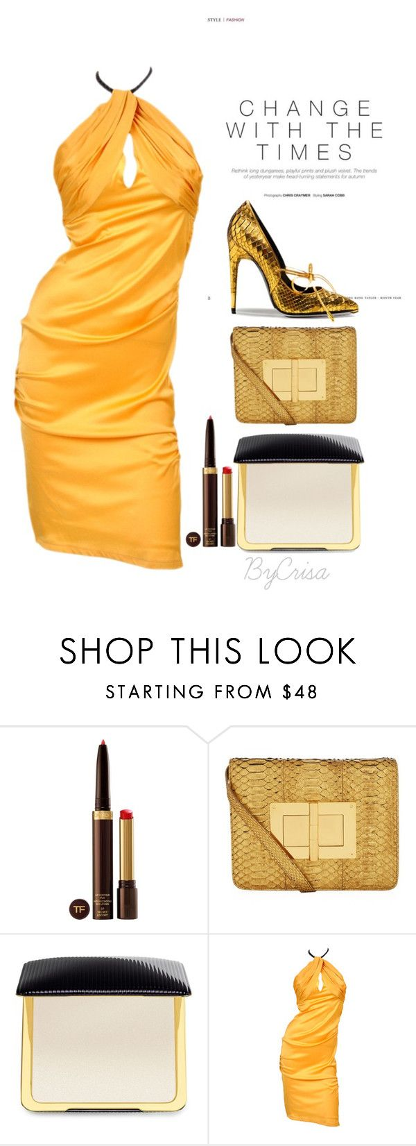 """""""Untitled #768"""" by crisa-gloria-eduardo ❤ liked on Polyvore featuring Tom Ford"""