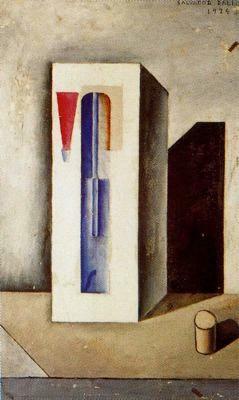 Sifón y botella de ron con corcho (1924) Salvador Dalí - Óleo sobre lienzo -Fundación Gala-Salvador Dalí. Figueras. España