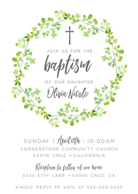 Baptism Invitations Baptism invitation for boy girl Christening