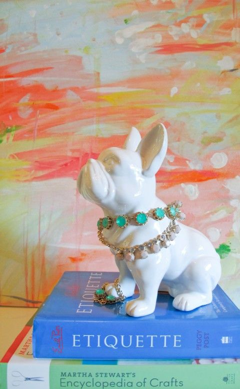 French Bulldog, Bright White | Lulu and Georgia | $34