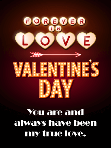 To my true love happy valentines day card for him neon lights send free to my true love happy valentines day card for him to loved ones on birthday greeting cards by davia its free and you also can use your own m4hsunfo