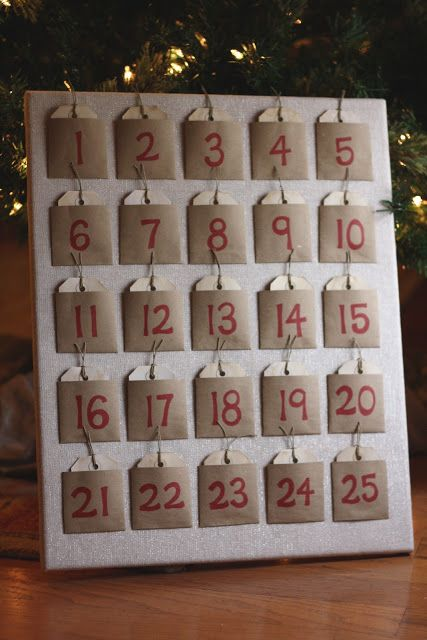 Frugal Living: DIY Advent Calendar - great list of activities to put in envelpes