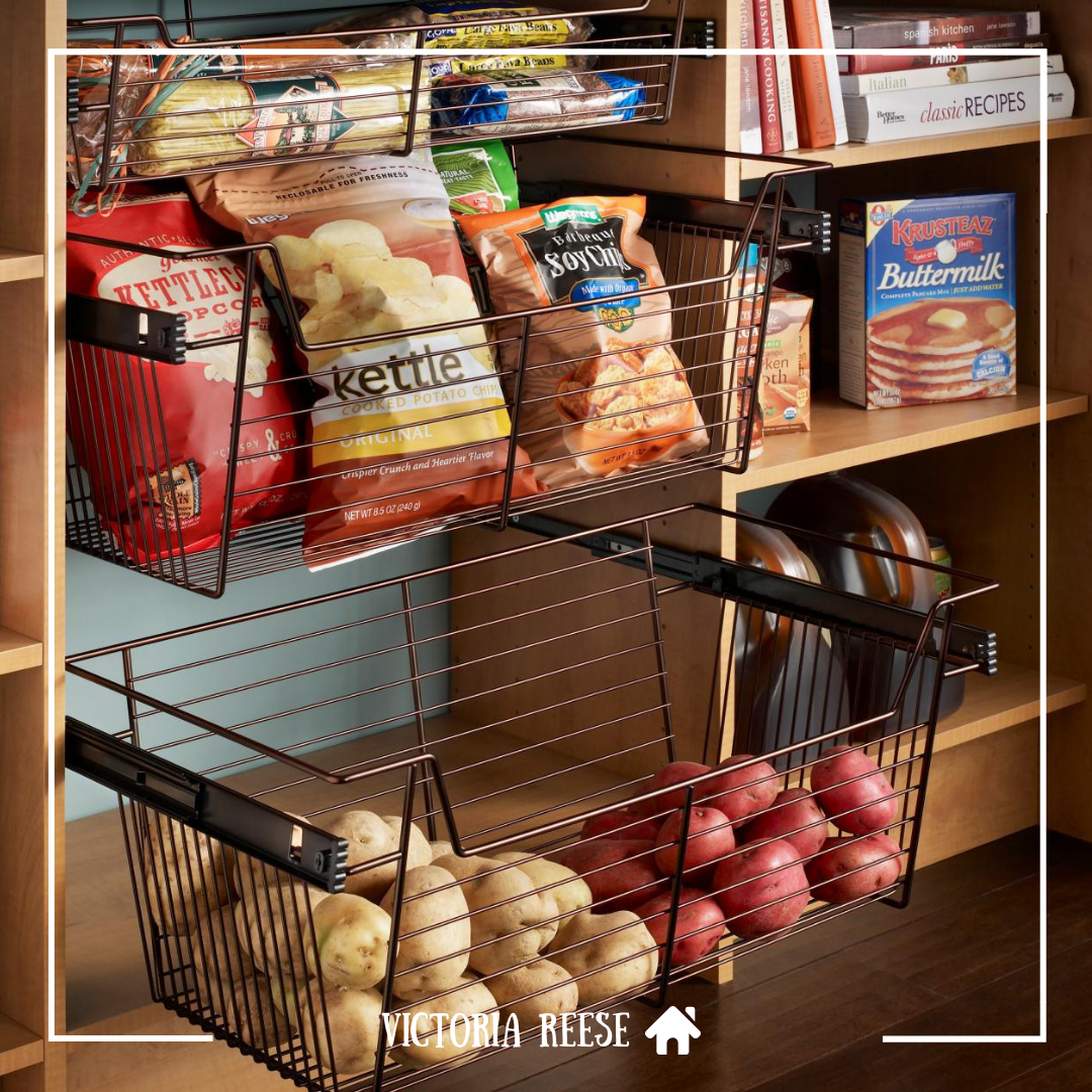 Could You Use These Pull Out Storage Baskets In Your Pantry Realestate Property Renov Diy Kitchen Storage Pantry Design Kitchen Organization