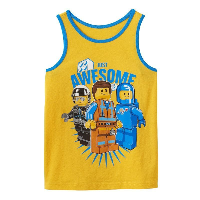"""Boys 4-7 The LEGO Movie """"Just Awesome"""" Tank, Boy's, Size: 5-6, Brt Yellow"""