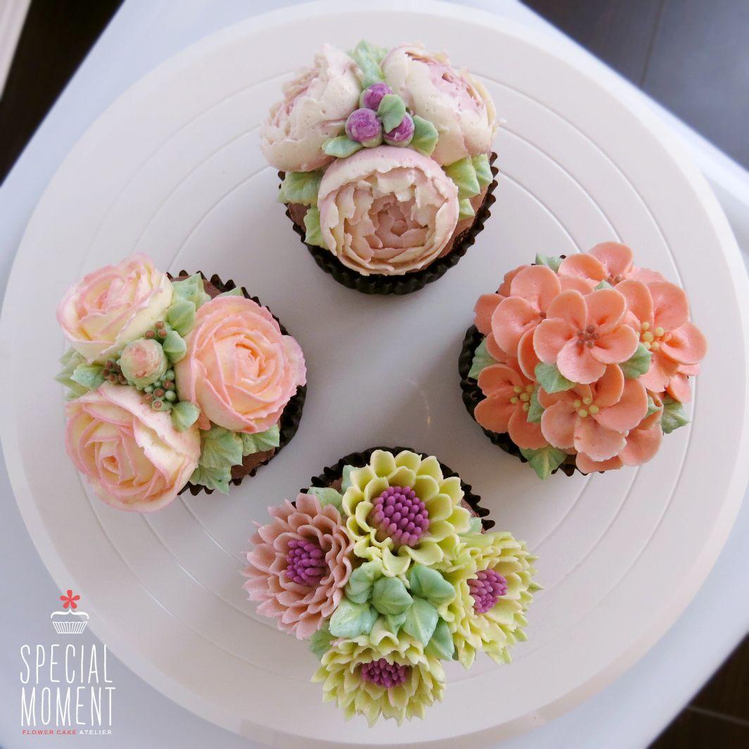 Choco chocolate flower buttercream cupcake for wedding butter cream cake wedding cupcakes - Creme decoration cupcake ...