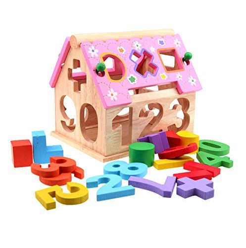 Yixin Creative Pink Roof House Shape Sorter Number