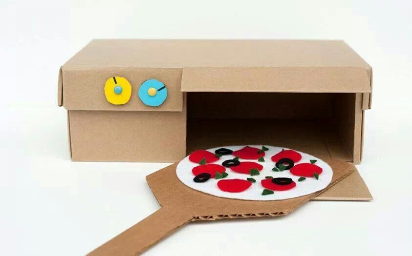Cardboard Box Pizza Oven Shoe Crafts Oh This Has PERFECT Written All Over It Look At Wonderful Shoebox Craft How Easily Been Converted