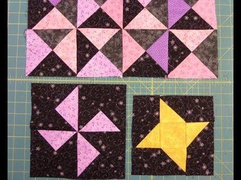 Nemme trekanter af firkanter i HANNES sy patchwork skole
