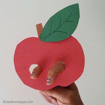 Apfelpuppe bastelidee und fingerspiel fur kindergarten for Basteln herbst kita