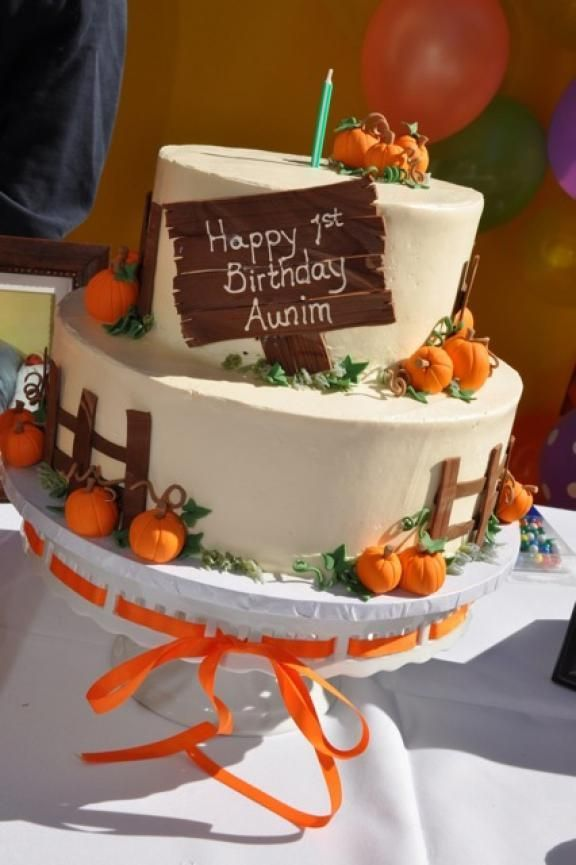 Image result for fall birthday tiered cake ideas Cakes Pinterest