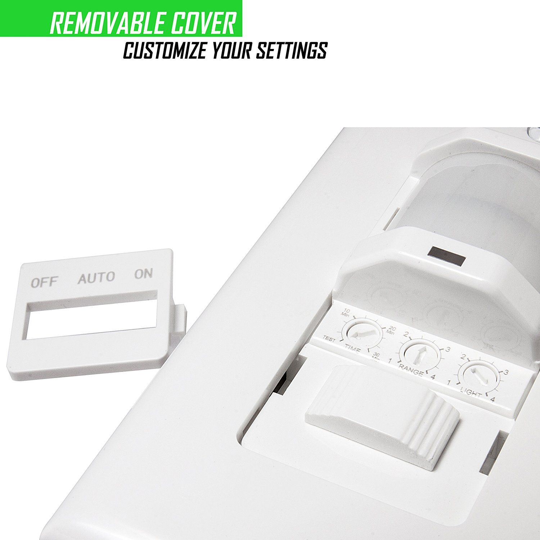 Topgreener Tsos5 W In Wall Pir Motion Sensor Light Switch Single Pole Fluorescent 500va Motor 1 8hp Incandescent 500w Neutral Wire Requ Motion Sensor Lights