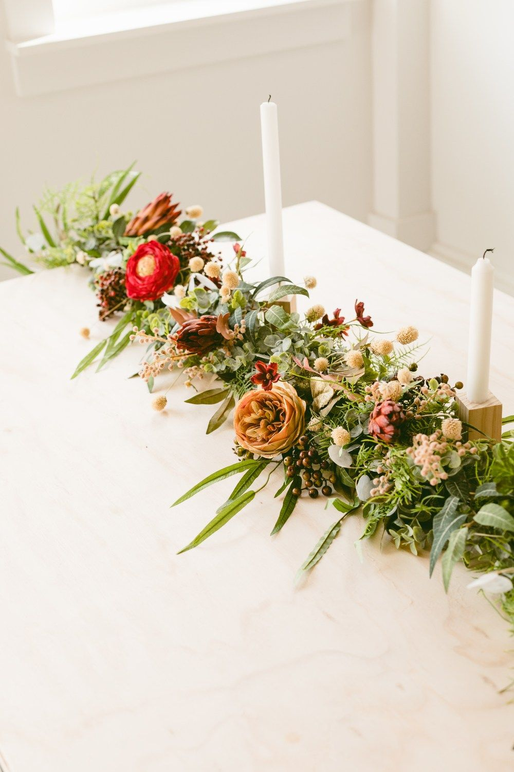 Get In The Holidiy Spirit With This Floral Christmas Garland Diy