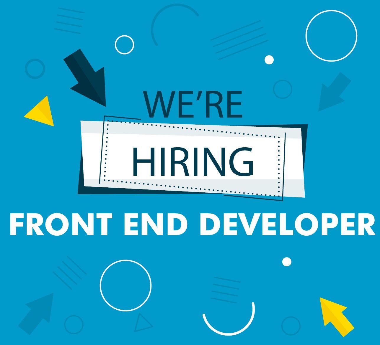 Image result for hiring Front End Developer