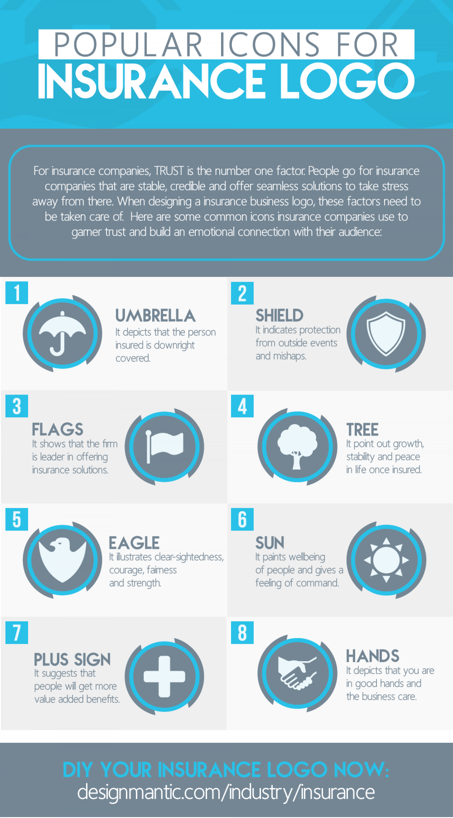 9 Popular Icons For Insurance Logo Infographic Logo Infographic