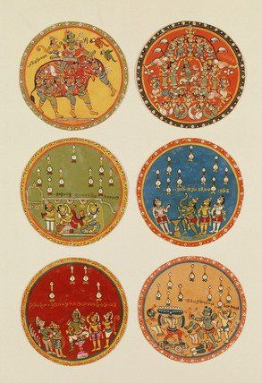 Playing cards. India, 16th century (V&A Custom Print)