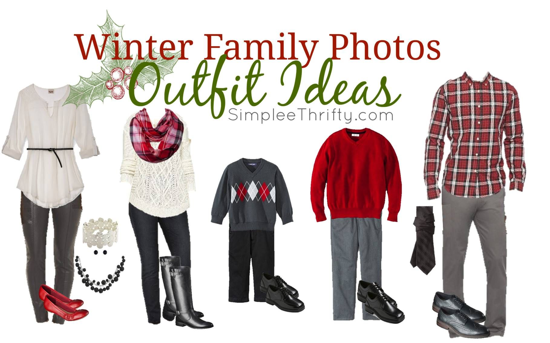 Winter Family Photos Outfit Ideas #familyphotooutfits