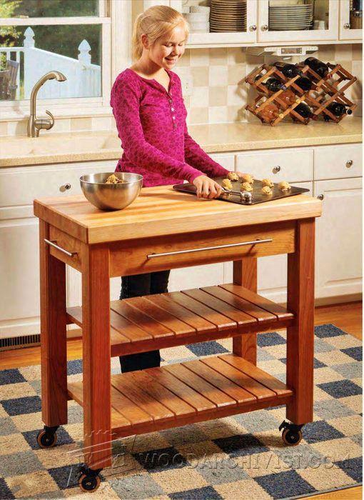 Portable Kitchen Island Plans   Furniture Plans And Projects   Woodwork,  Woodworking, Woodworking Plans, Woodworking Projects