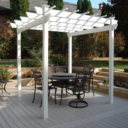 DuraTrel 11300 Kingston Pergola Vinyl pergola, Outdoor