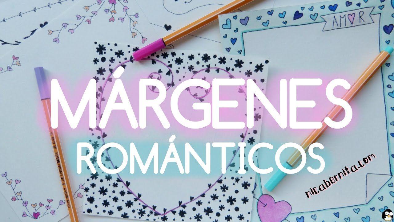 MÁRGENES para #PORTADAS de #cuaderno y #BORDES para #CARTAS de #amor ...