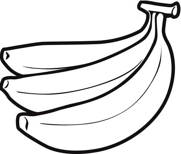 Pin Oleh Jose Leon Di Banana Coloring Pages Halaman Mewarnai Buah Buku Mewarnai