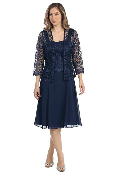 a7f485303f7 The Dress Outlet Short Mother of the Bride Church Dress with Jacket at Amazon  Women s Clothing store